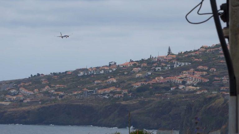 Anflug Flughafen Madeira